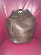 Coach Brown Leather Sling Backpack 4160 Day Bag Crossover Purse Vintage USA