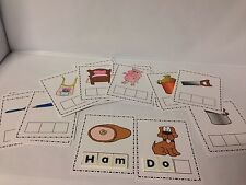 48 Picture Letter Cards - Words For Spelling - Phonics Cards