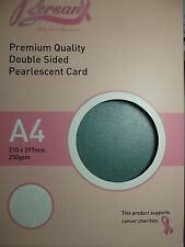 Duo Red/Green - Payper Box Bersan Pearlescent 10 * A4 double sided pearl card