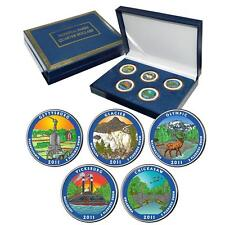 2011 Colorized US Mint National Park Quarters Set in Gift Box