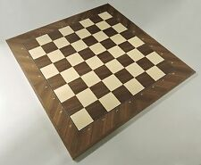 Walnut And Maple Chess Board With Coordinates, Made in Spain