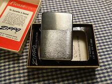 VINTAGE ZIPPO BRUSHED CHROME LIGHTER 1974