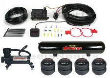 "AirLift AutoPilot V2 3/8"" Digital Air Ride Blk Air Compressor Tank 2500 Air Bags"