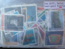 200 Different Switzerland pro Patria only Stamp Collection