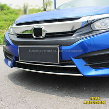 Chrome Bottom Front Bumper Grille Vent Cover Trims  for 2016-2017 Honda Civic