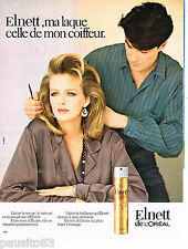 PUBLICITE ADVERTISING 065  1984  L'OREAL  laque ELNETT