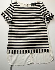 Anthropologie Sunday in Brooklyn Womens Striped top Blue and Ivory Size S