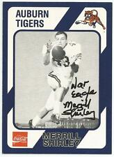 MERRILL SHIRLEY Autographed Signed 1989 Collegiate Collection card Auburn Tigers