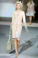 Louis Vuitton Runway Pink Nude Corset Lace Up & Hook-and-Eye Suit Skirt & Top 38