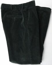 Brooks Brothers 346 Mens 34X32 Green Corduroy Pants Flat Front Wide Wale Cotton