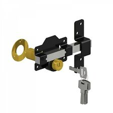 "Gatemate 2"" Long Throw Lock Door Gate Key Lockable from Both Sides"