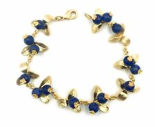 Blueberry Bracelet by Michael Michaud for Silver Seasons in Gold Plate!