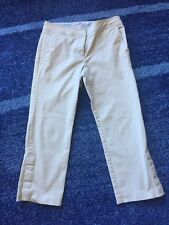 Womens Tommy Hilfiger Khaki Cropped Capri Stretch Pants Size 6 - EUC