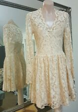 ASOS stretchy lace dress in pearl peach.Sz8.Fit & flare.VGC