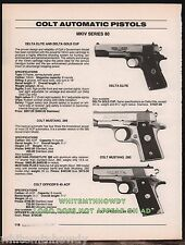 1996 COLT Delta Elite and Gold Cup, Mustang .380, Officer's 45 PISTOL AD