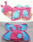 Newborn Lovely Baby Girls Knit Crochet Butterfly Clothes Photo Prop Outfit 0-12M