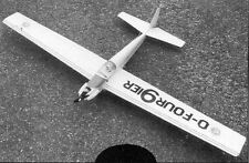 O Four 9ier, Motor  Glider, 56 inch WS  RC AIrplane Prined Plans & Templates