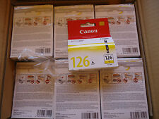lot 71 Genuine Canon CLI-126y yellow Ink Cartridge 4564B001AB in sealed box