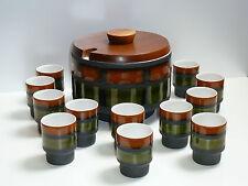 60s 70s  Prächtiges BOWLE-SET f.12 Personen Keramik stunning punch bowl set 70s