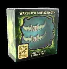 SDCC 2016 EXCLUSIVE BLIZZARD WARGLAIVES OF AZZINOTH COLLECTORS  PINS SET NIB WOW