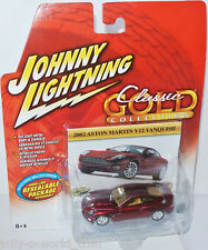 Classic Gold - 2002 ASTON MARTIN V12 VANQUISH - red - 1:64 Johnny Lightning