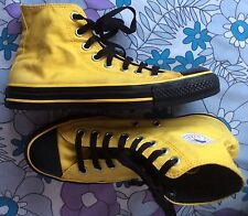 Converse yellow with black trim classic high top baseball pumps shoes 6.5 39.5