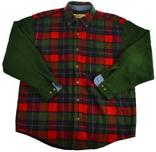 Vtg Eddie Bauer Wool Jacket M Mens Plaid Flannel Hunting Coat Colorblock 80s 90s