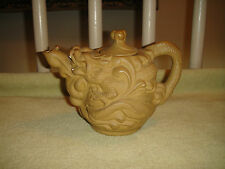 Superb Chinese Or Japanese Dragon Teapot-Pottery Or Clay-Marked-Raised Dragons