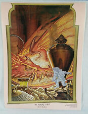 THE HOBBIT LORD OF THE RINGS DOUBLE SIDED POSTER 17x23 BATTLE 5 ARMIES 1976 RARE