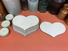 WOODEN COUNTRY HEARTS Shapes 11.7cm (x10) laser cut wood crafts blank shape