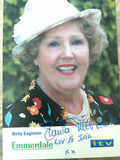 Signed Photo of Emmerdale Betty Eagelton - Paula Tilbrook