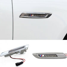 2x Chrome LED Side Turn lights signal For BMW F10 F11 5 series M5 2011-2015