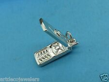 Vintage sterling silver MOVABLE FLIP CELLULAR CELL PHONE SOLID charm LAST ONE #F