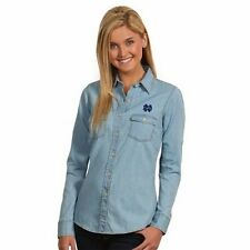 """New Notre Dame Women's Long Sleeve Chambray """"Denim look"""" Shirt - Large"""