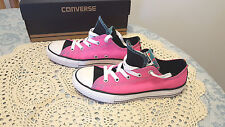 NEW Converse Girl's Double Tongue  OX  Shoes  Sz. 4 Youth  Neo Pink NEW in Box