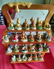 Disney Lenox Winnie the Pooh Thimble Collection, Complete Set w/Mirror Shelf