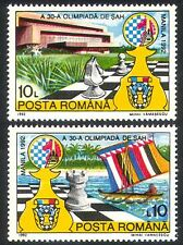 Romania 1992 Chess Pieces/Board/Boat/Building/Sports/Games 2v set (n23201)