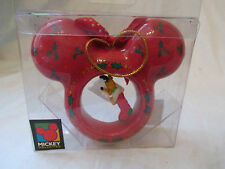 New Mickey Unlimited Mouse Ears Disney Christmas Ornament with Dangling Pluto
