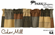 Cider Mill Valance by Park Designs, Lined, 60x14, Country Patchwork Pattern, One