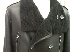 "Men's Zara Man Real Sheepskin Coat / Jacket Trench L - Xl Slim  Chest 42"" Ex"