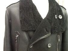 "Men's Zara Man Real Sheepskin Coat / Jacket Trench L - Xl Slim  Chest 42"" Ex"