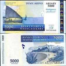 MADAGASCAR 5000 5,000 ARIARY 2007/2012 P 94 NEW COMM. UNC