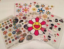 TAKASHI MURAKAMI KaiKai Kiki 'Flower/Dokuro/Iikoto & Warui' Cute Sticker Bundle