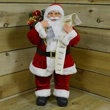 Xmas Decoration 60cm Standing Santa Claus / Father Christmas w Naughty Nice List