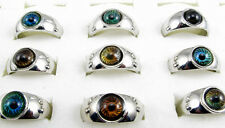 10pc Awesome Round Eye Mood Ring Child Adult Color Changing Ring Chart Size 6-10