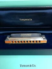 Genuine Rare Boxed Vintage Tiffany & Co Sterling Silver Hohner German Harmonica