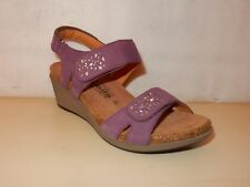 Mephisto MOBILS Willow Womens Ladies Purple/Plum Leather sandals 7 /37 NEW wFlaw