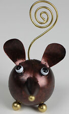 Handmade Metal Mouse Ornament Photo Memo Holder