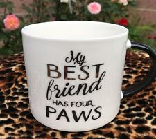 Best Friend Four Paws Coffee Cup Rescue Pets Animal Lover Dog Cat  New