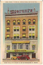 Pieroni's Restaurant in Boston MA Postcard